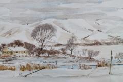 Wally Nicholson - Untitled Winter Scene