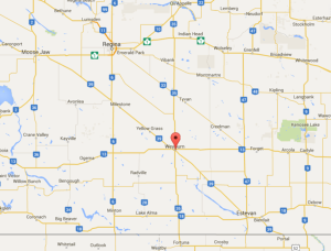 weyburn map