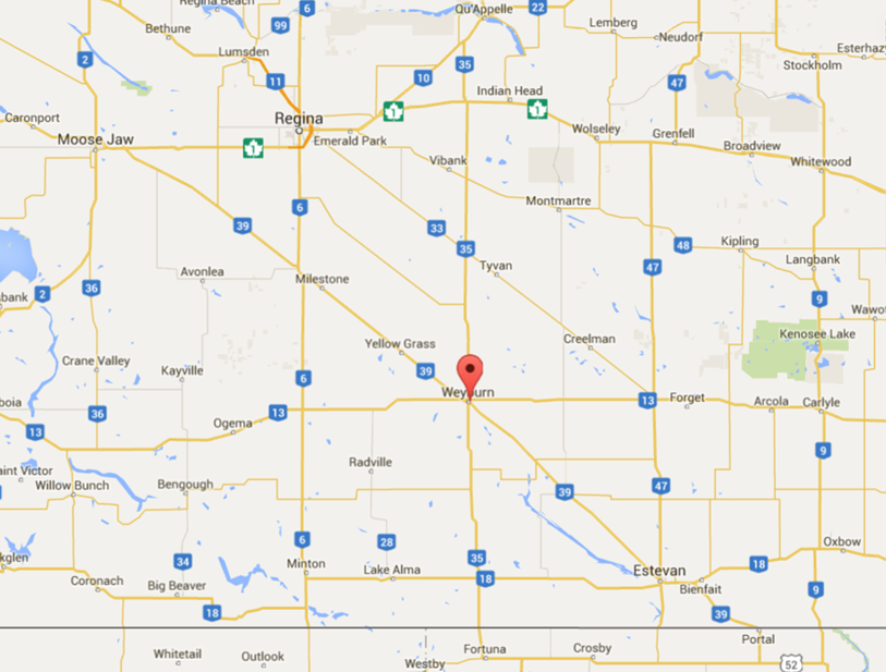 Location - Weyburn, Saskatchewan