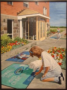 """""""Signal Hill Arts Centre"""" painting by Richard Widdifield (displayed at City Hall)"""