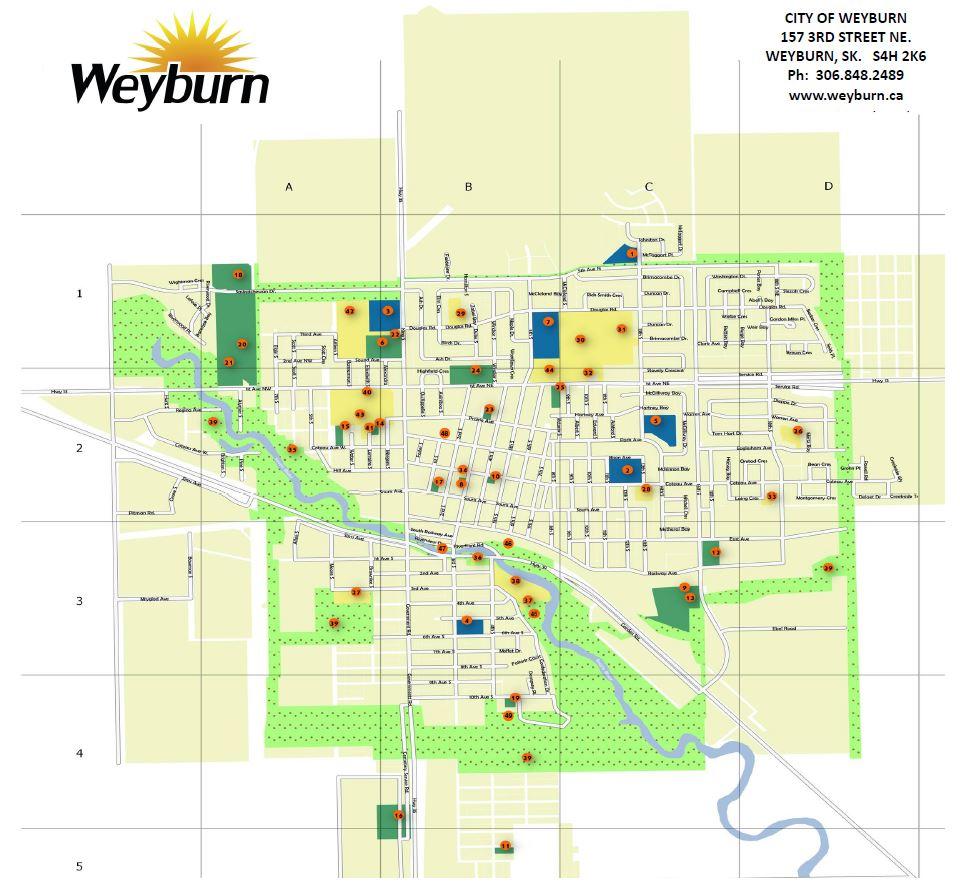 City Map - Weyburn, Saskatchewan