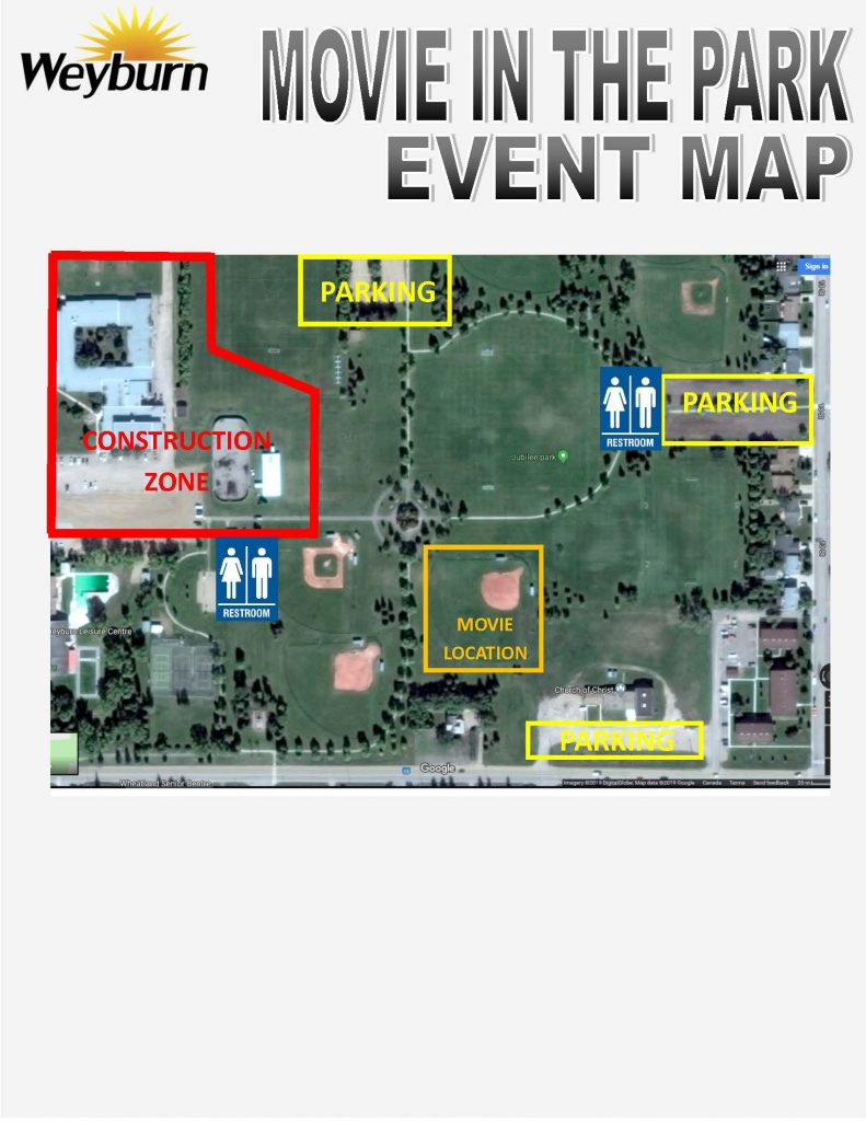 Movie in the Park Event Map