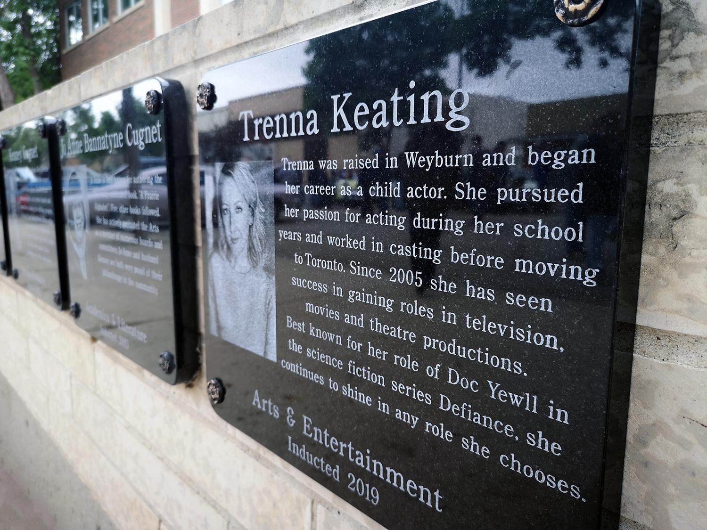 Keating Walk of Fame Plaque Reveiled - Weyburn, Saskatchewan