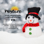 Stocking Stuffer Swim Passes Available at the Weyburn Leisure Centre